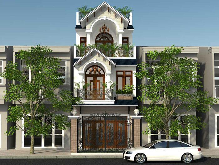 Nhà phố quận thủ đức mặt tiền 5m 3 tầng