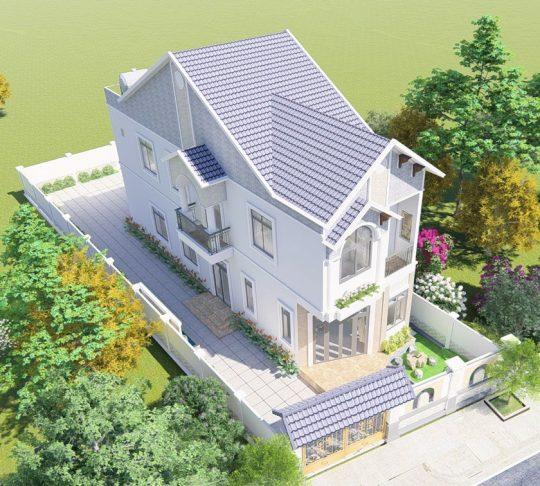 Mặt tiền nhà phố 5m mái thái