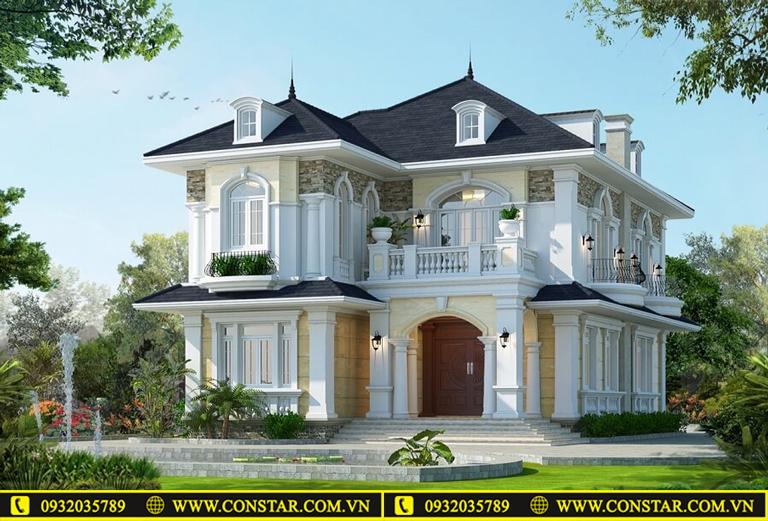 Nhà mái thái mát mẻ và đẹp sang trọng.