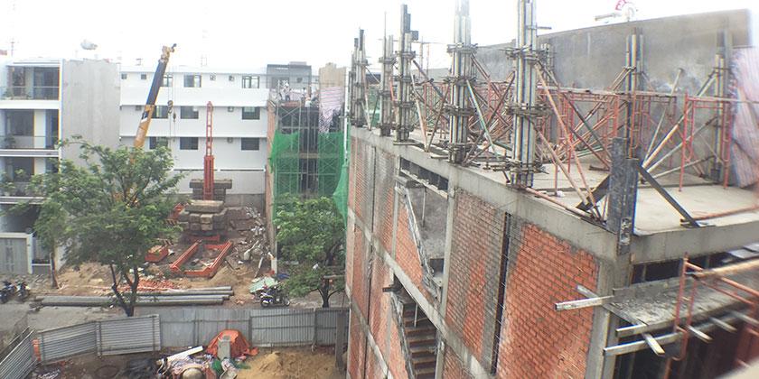 Thi công xây dựng nhà phố phần thô tại Quận Thủ Đức TpHCM.