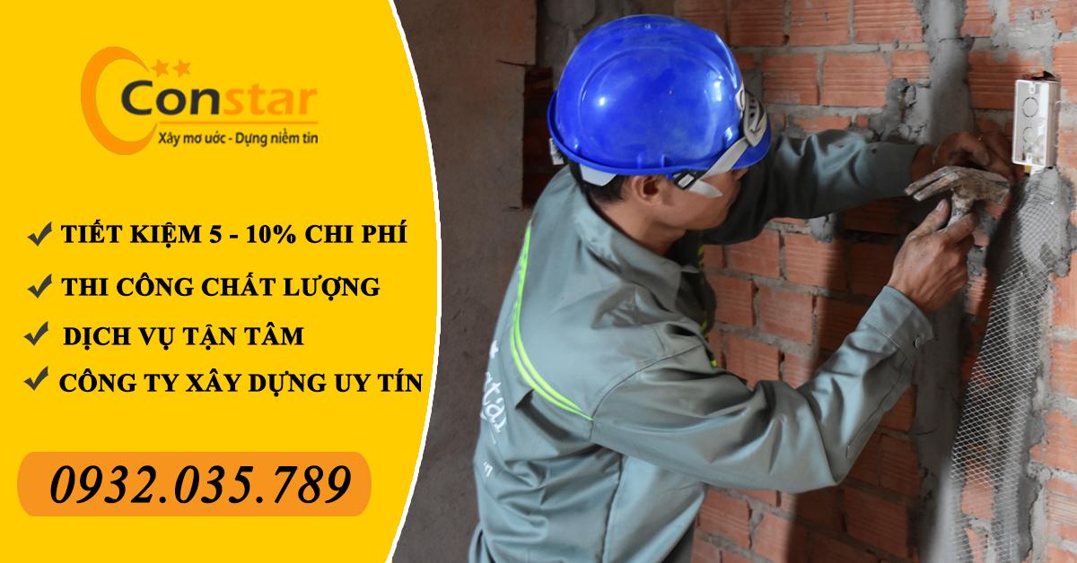 Công ty xây dựng phần thô nhà phố ở Bình Dương và Biên Hòa, Đồng Nai.