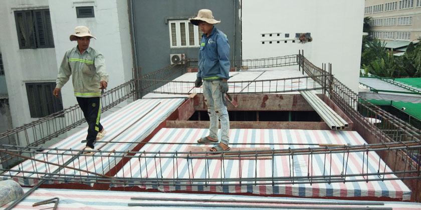 Thi công xây dựng nhà phố phần thô tại Quận Thủ Đức - TpHCM.