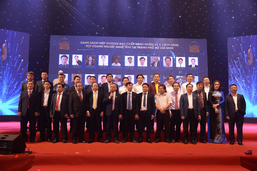 Ban chấp hành Hội DNNT tại TpHCM nhiệm kỳ V (2019 - 2024).