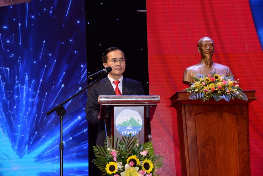 Ông, Lê Ngọc Hoa – Phó Chủ tịch UBND tỉnh Nghệ An phát biểu tại đại hội.