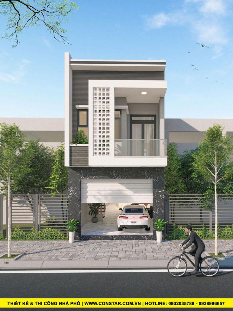 Mẫu thiết kế xây nhà 2 tầng trọn gói Quận Thủ Đức.