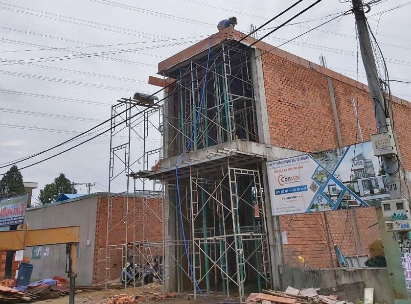 Thi công xây dựng nhà phố tại Thị xã Thuận An, Bình Dương.