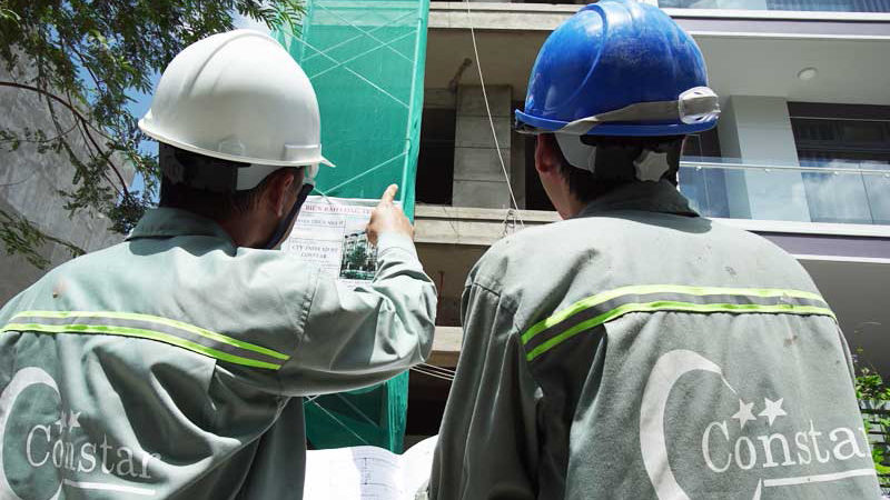 Giám sát thi công xây dựng nhà phố phần thô tại TpHCM.