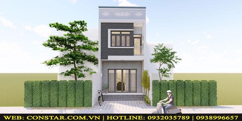 Thiết kế xây dựng nhà 2 tầng Quận Gò Vấp.