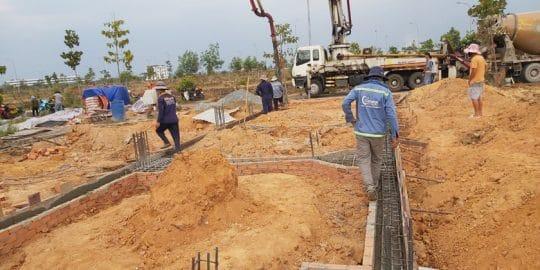 Xây dựng phần thô nhà ở KDC Long Hưng Biên Hòa.