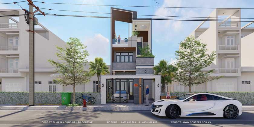 Thiết kế đơn giản giúp tiết kiệm tiền xây nhà.