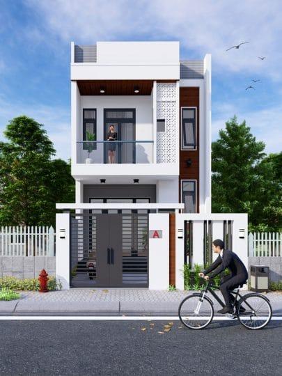 Thiết kế nhà 2 tầng Quận 9.