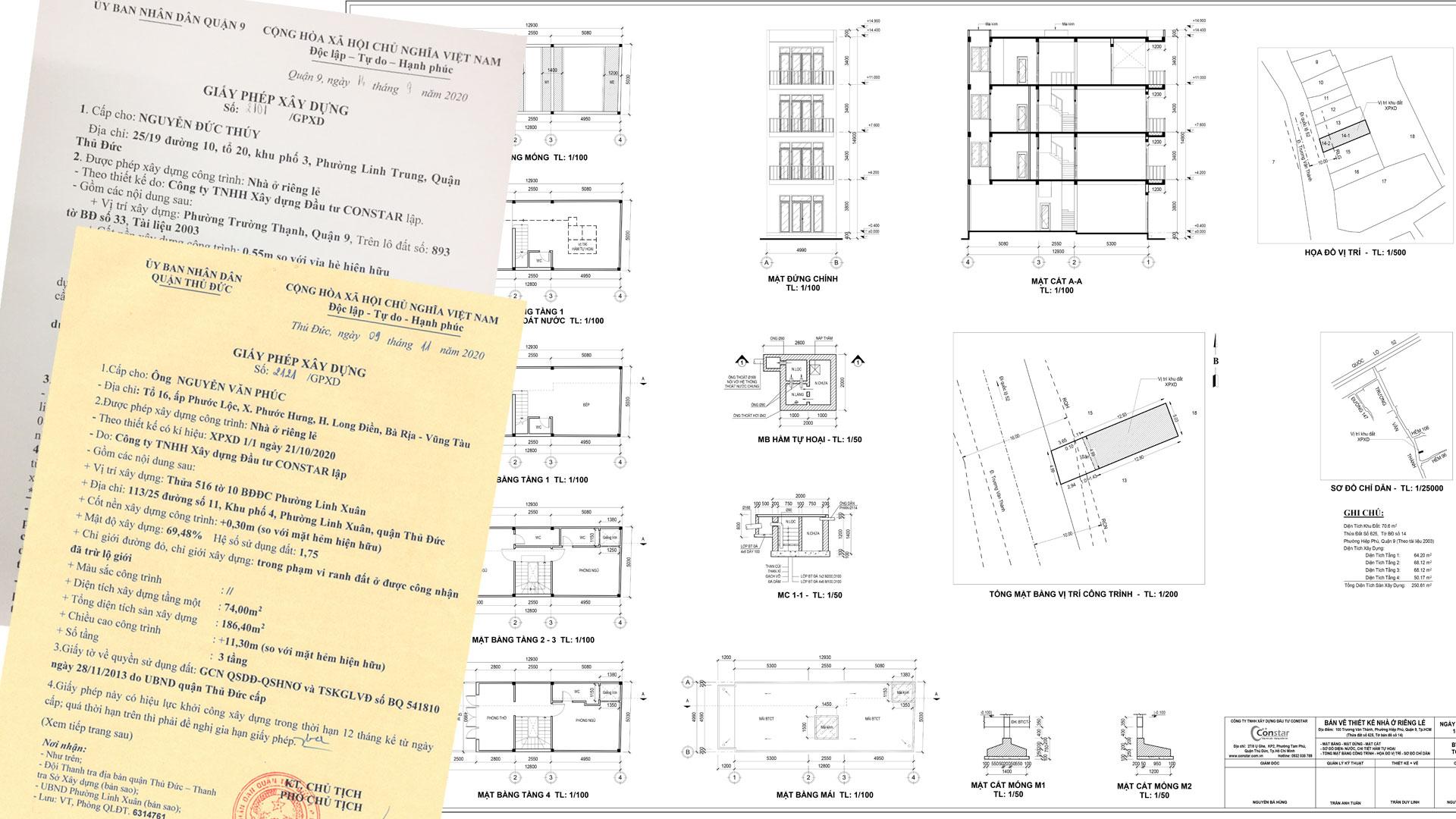 Dịch vụ xin giấy phép xây dựng Quận 9, 2 và Thủ Đức