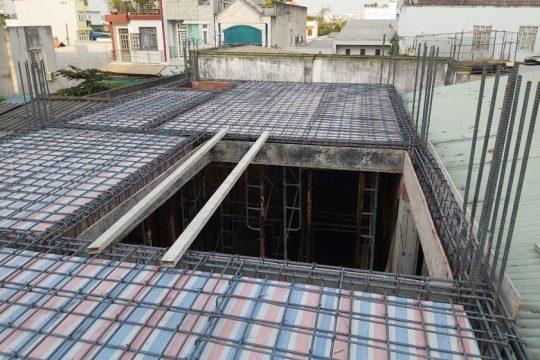 Thi công xây dựng phần thô nhà 4 tầng Phường Hiệp Phú, TP. Thủ Đức.