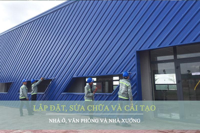 Dịch vụ lắp đặt, sửa chữa và cải tạo nhà ở, văn phòng, nhà xưởng.